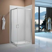 Vivid Corner Entry Shower Enclosure 900mm x 900mm with Shower Tray - 6mm Clear Glass - Verona