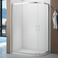 Vivid Offset Quadrant Shower Enclosure 1200mm x 800mm with Shower Tray Right Handed - Verona