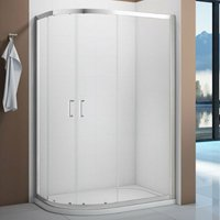 Vivid Offset Quadrant Shower Enclosure 900mm x 760mm with Shower Tray Left Handed - Verona