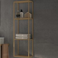 Vogue Wall Hung Open Storage Shelf Unit 300mm Wide - Copper - Verona