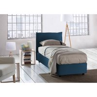 Veronica Single bed with removable Front Opening Container Made in Italy Blue - TALAMO ITALIA