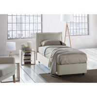 Veronica Single bed with removable Side Opening Container Made in Italy Cream - TALAMO ITALIA