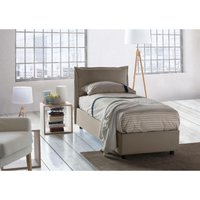 Veronica Single bed with removable Side Opening Container Made in Italy Turtledove - TALAMO ITALIA
