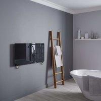 Vetro Frame 100X500mm Glass Towel Warmer 1621B Black - Heating Style