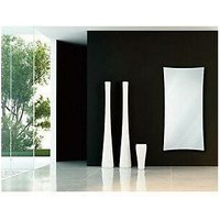 Vetro Frame 1000X500mm Glass Towel Warmer 1621B White - Heating Style