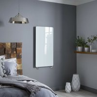 Vetro Star 1063X532mm Glass Towel Warmer 1604B White - Heating Style