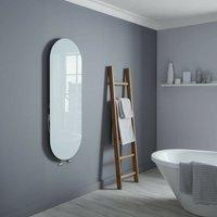 Vetro Soap 1380X500mm Glass Towel Warmer 1651B White - Heating Style