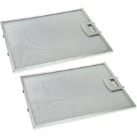 2x Metal Grease Filter compatible with Constructa CD66110/01, CD66110/03, CD66110/04, CD66110/05 Extractor Fan, metal - Vhbw