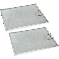 2x Metal Grease Filter compatible with Neff D8908C0/01, D8908C0/02, D8908C0/03, D8908C0/05, D8908C0GB/01 Extractor Fan, metal - Vhbw