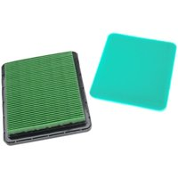 vhbw Filter Set (1x air filter, 1x pre-filter) compatible with Honda GX100TAMP, GX100U, GX100UT Motor for Lawn Scarifier, Lawnmower