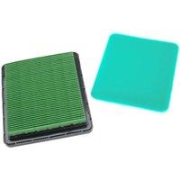 Filter Set (1x air filter, 1x pre-filter) replaces Honda 17211883010, 17211Z8B901, 17211ZE8000 for Lawn Scarifier, Lawnmower - Vhbw