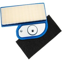 Filter Set (1x air filter, 1x pre-filter) replaces Kawasaki 11013-7001 for Lawn Tractor, Ride On Mower - Vhbw
