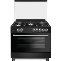 ViandPro - 90cm All Gas Black Range Cooker with Glass Lid and Rotisserie