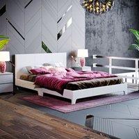 Victoria Double Bed, Light Grey Linen