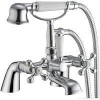 Grand Taps - Victorian Antique Old Style Chrome Bathroom Bath Shower Mixer Tap (Viscount 4)