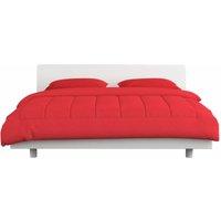 3 Piece Winter Duvet Set Fabric Burgundy 200x200/60x70 cm - Red - Vidaxl