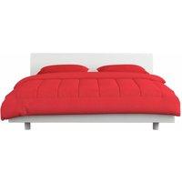 vidaXL 3 Piece Winter Duvet Set Fabric Burgundy 240x220/60x70 cm - Red