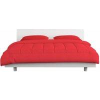 vidaXL 3 Piece Winter Duvet Set Fabric Burgundy 240x220/80x80 cm - Red