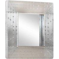 Aviator Mirror 50x50 cm Metal - Silver - Vidaxl