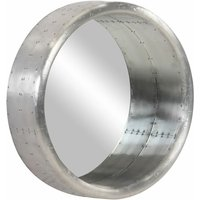 Aviator Mirror 68 cm Metal - Silver - Vidaxl