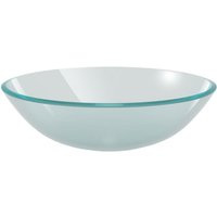 Basin Tempered Glass 42 cm Frosted - VIDAXL
