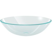 Basin Tempered Glass 42 cm Transparent - VIDAXL