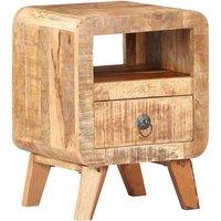 Bedside Cabinet 30x30x41 cm Rough Mango Wood - Brown - Vidaxl