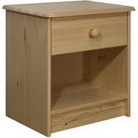Bedside Cabinet 41x30x42 cm Solid Pine Wood - Brown - Vidaxl