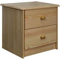 vidaXL Bedside Cabinet 43x34x40 cm Solid Pine Wood - Brown