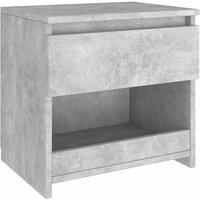 Bedside Cabinet Concrete Grey 40x30x39 cm Chipboard - Grey - Vidaxl