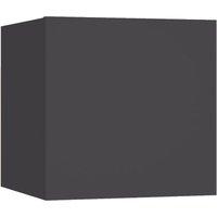 vidaXL Bedside Cabinet Grey 30.5x30x30 cm Chipboard - Grey