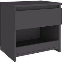 Bedside Cabinet Grey 40x30x39 cm Chipboard - Grey - Vidaxl