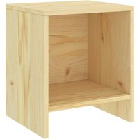Bedside Cabinet Light Wood 35x30x40 cm Solid Pinewood - Brown - Vidaxl