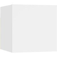 vidaXL Bedside Cabinet White 30.5x30x30 cm Chipboard - White