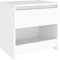 Bedside Cabinet White 40x30x39 cm Chipboard - White - Vidaxl