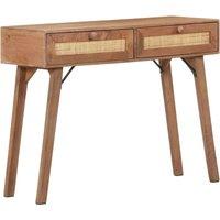 Console Table 100x35x76 cm Solid Mango Wood - Brown - Vidaxl