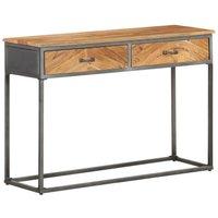 Console Table 110x35x75 cm Solid Acacia Wood - Brown - Vidaxl