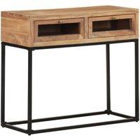 Console Table 90x35x76 cm Solid Acacia Wood - Brown - Vidaxl