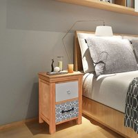 Drawer Cabinet 34x34x46 cm Solid Wood - Brown - Vidaxl