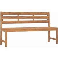 Garden Bench 150 cm Solid Teak Wood - Brown - Vidaxl