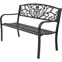 Garden Bench 127 cm Cast Iron Black - VIDAXL