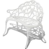 Garden Bench 100 cm Cast Aluminium White - White - Vidaxl