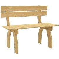 vidaXL Garden Bench 150 cm Impregnated Pinewood - Brown