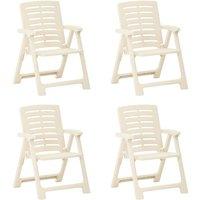 Garden Chairs 4 pcs Plastic White - White - Vidaxl