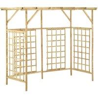 Garden Pergola for Triple Bins Impregnated Pinewood - Brown