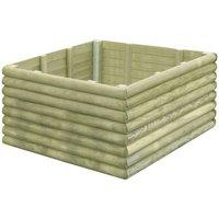 Garden Planter 106x106x48 cm Impregnated Pinewood - Green -