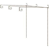 Garden Rose Arch Antique Brown 3x3x2.5 m Iron - Brown - Vidaxl