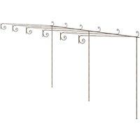 vidaXL Garden Rose Arch Antique Brown 6x3x2.5 m Iron - Brown