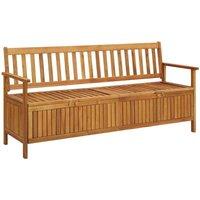 Garden Storage Bench 170 cm Solid Acacia Wood - Brown - Vidaxl
