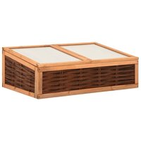 Greenhouse 120x80x45 cm Solid Pinewood and Willow - Brown - Vidaxl